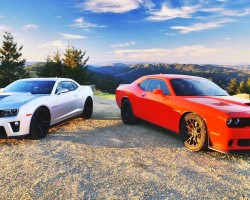 2015 Dodge Challenger SRT Hellcat vs. 2015 Chevrolet Camaro ZL1! – Head 2 Head Ep. 61