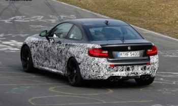 Hot BMW M2 Coupe limbering up in new spy shots