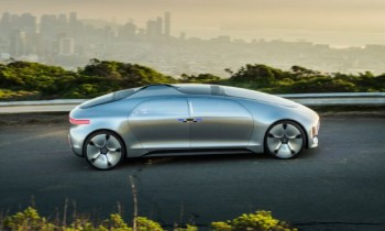 Riding in the Mercedes-Benz F 015 Luxury in Motion Concept