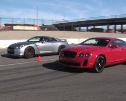 When Worlds Collide: Nissan GT-R Vs Bentley Continental Supe