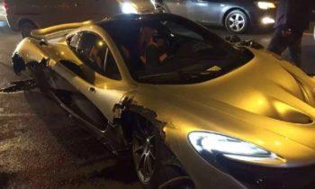 McLaren P1 crashes hard in China