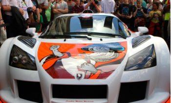 Gumpert Apollo crashes during Gumball 3000 rally