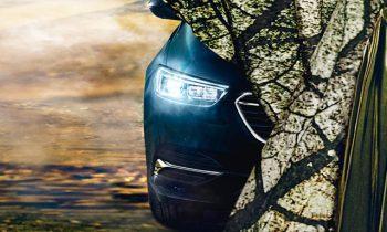 Opel teases new Insignia Grand Sport's matrix LED headlights