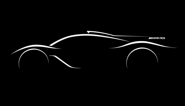 Teaser for Mercedes-AMG hypercar, 2016 Paris auto show