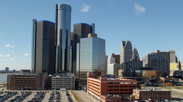 General Motors Renaissance Center in Detroit, Michigan