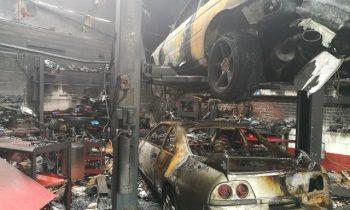 Nissan GT-R horde destroyed in specialty shop fire