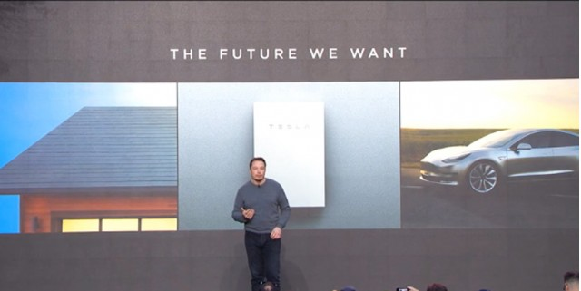 Tesla CEO Elon Musk presents Powerwall 2.0 and SolarCity solar roof