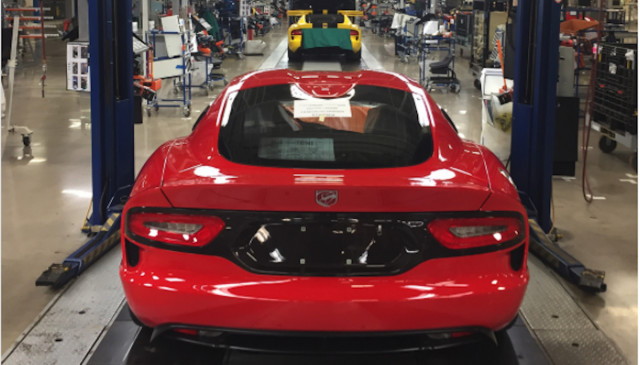 Final Dodge Viper ever built at Connor Avenue Assembly Plant