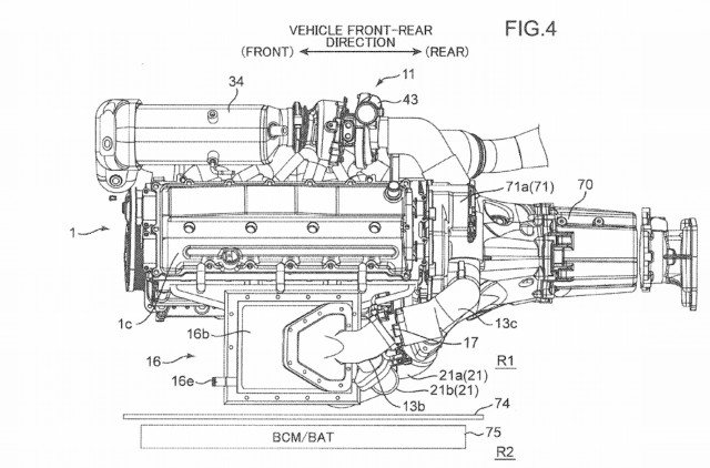 Mazda twin-turbo electric supercharged engine patent