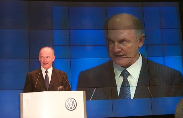 Ferdinand Piech, chairman and CEO of Volkswagen Group, at 2000 Paris Motor Show