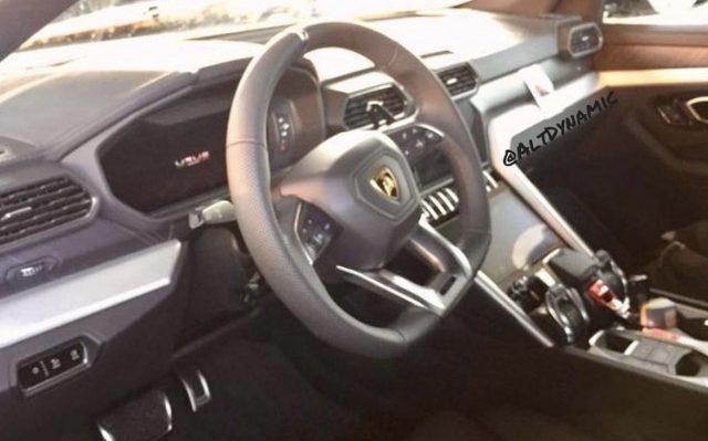 Lamborghini Urus' interior spied uncovered