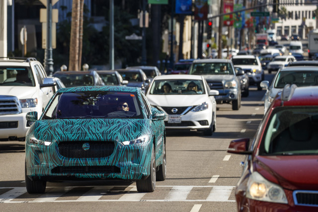 Jaguar I-Pace undergoes final validation testing in Los Angeles