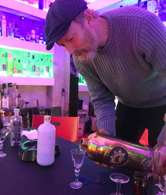 Pouring of $1.3 million bottle of RussoBaltique vodka at Copenhagen's Café 33
