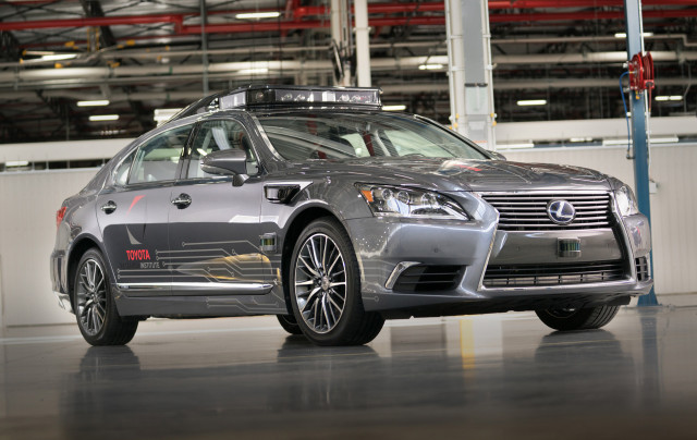 Third-generation Toyota self-driving car prototype