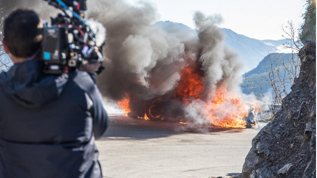 "Alpine A110 that caught fire during filming of ""Top Gear"""