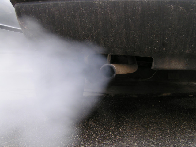 Exhaust emissions from tailpipe [photo: Simone Ramella, 2005, used under Creative Commons 2.0]