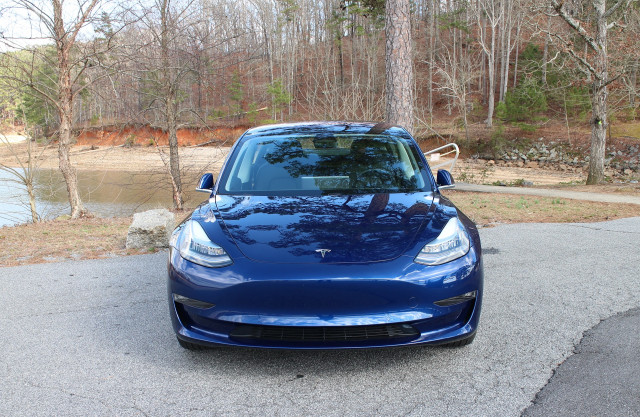 2018 Tesla Model 3 Long Range electric car, road test in greater Atlanta area, Feb 2018