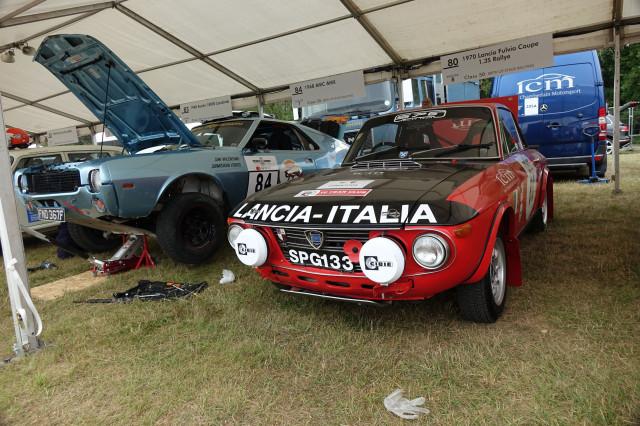Lancia Fulvia Coupe 1.3S Rallye and AMC AMX rally cars