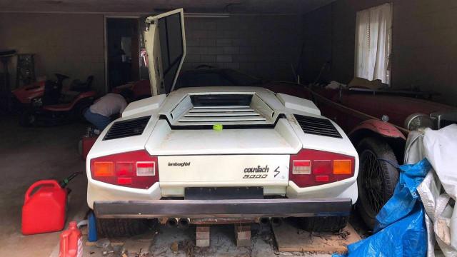 Grandma's 1981 Lamborghini Countach is still cool even covered in dust